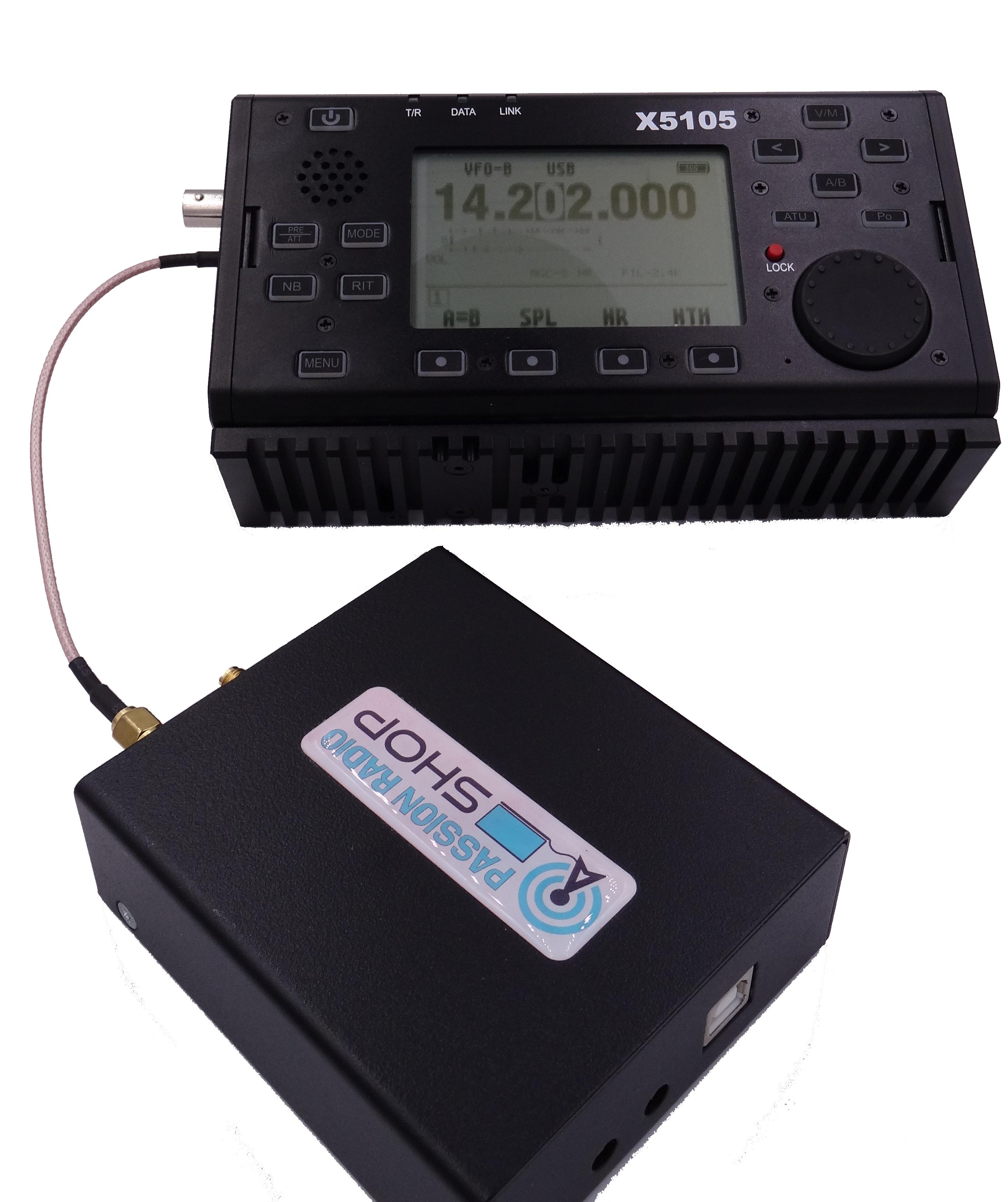Panadapter avec SDRPlay RSP2 et le QRP HF Xiegu X5105