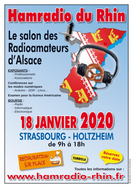 affiche salon hamradio rhin alsace 2020