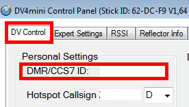 identifiant DMR CCS7