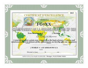 C'est le premier grand contest organisé par les radioamateurs FG, de l'île de la guadeloupe IOTA NA-