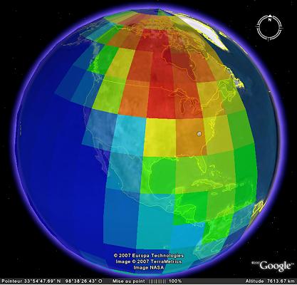 Activité couche E sur google earth