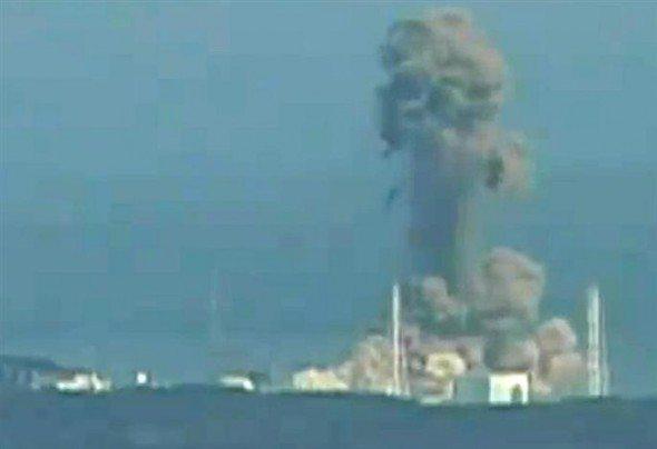 Photo explosion du reacteur 3 de la centrale nucléaire fukushima au japon