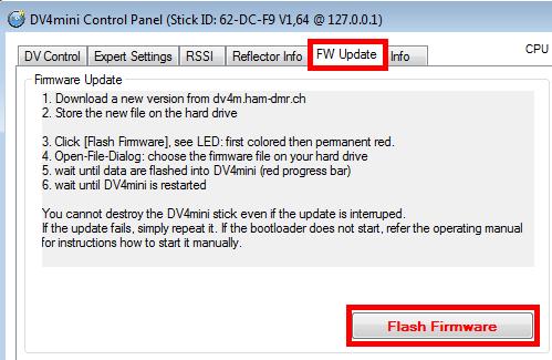 mise à jour firmware dv4mini 1.64