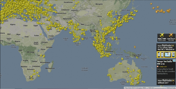 Tracking GPS des avions par FlightRadar24 et carte réception ADS-B