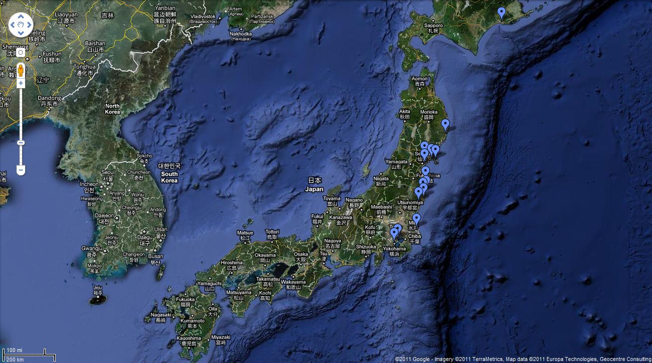 google-maps-seisme-tsunami-japon
