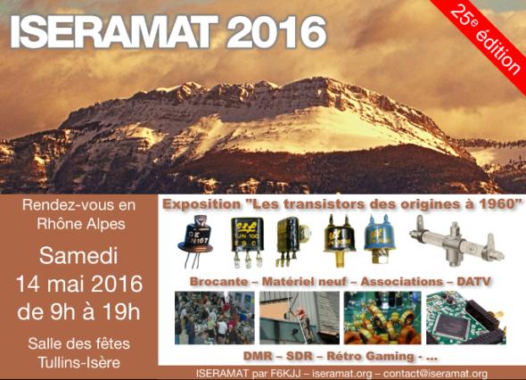 L'édition 2016 célèbrera la 25ème année du salon Iseramat qui se déroulera le samedi 14 mai 2016 de