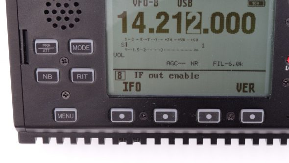 reglage if panadapter x5105 xiegu