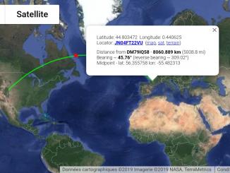 satellite AO-7 F4DXV