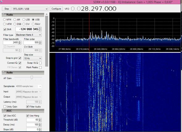 Réception SDR 28Mhz WPX SSB 2014