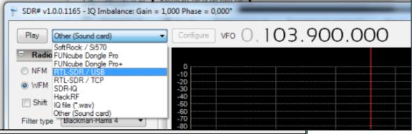Logiciel SDR Sharp pour RTL SDR