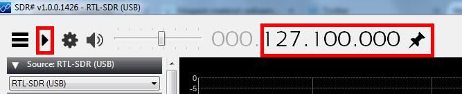 Selon la clé RTL-SDR utilisée, il est nécessaire d'appliquer une correction à la fréquence affichée