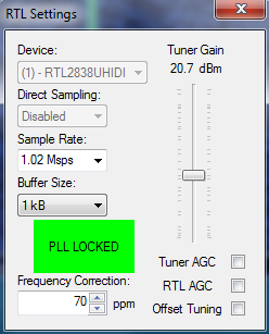 contre gain et correction ppm hdsdr