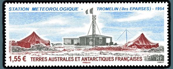 Timbre Tromelin iles éparses La poste TAAF 2014