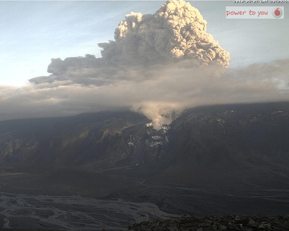 webcam du volcan en islande